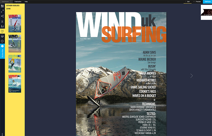 Windsurfing UK magazine March 2019